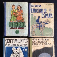 Libros de segunda mano: LOTE 4 LIBROS ANTIGUOS DE ESCUELA, . Lote 48503889