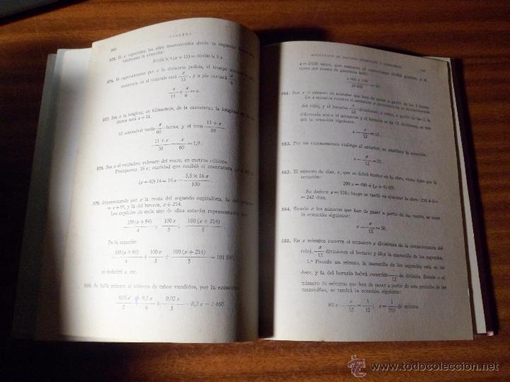 Libros de segunda mano: EJERCICIOS Y PROBLEMAS DE ALGEBRA. M. GARCÍA ARDURA. 1765 PROBLEMAS RESUELTOS. 14ª ED. (1962) - Foto 3 - 48577014
