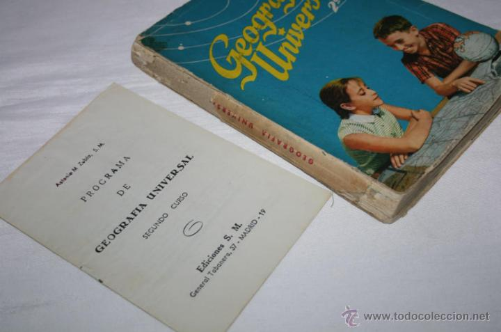 Libros de segunda mano: LIBRO ANTIGUO DE TEXTO, GEOGRAFIA UNIVERSAL 2º CURSO, ANTONIO M. ZUBIA, S. M. 1958 - Foto 2 - 48650879