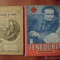 Livros em segunda mão: LOTE 2 LIBROS TENEDURIA DE LIBROS POR PARTIDA DOBLE, PRIMER GRADO. Lote 48667688