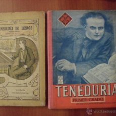 Livres d'occasion: LOTE 2 LIBROS TENEDURIA DE LIBROS POR PARTIDA DOBLE, PRIMER GRADO. Lote 48667688