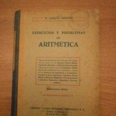 Libros de segunda mano: EJERCICIOS Y PROBLEMAS DE ARITMETICA --MADRID 1967. Lote 48919175