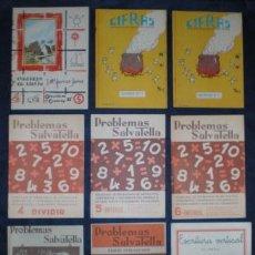 Libros de segunda mano: 9 CARTILLAS ESCOLARES (7 DE MATEMÁTICAS, 1 DE DIBUJO Y 1 DE ESCRITURA). EN PERFECTO ESTADO.. Lote 48949579