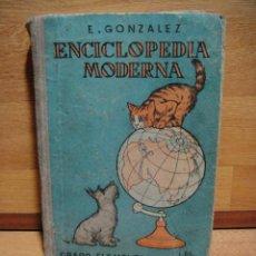 Libros de segunda mano: ENCICLOPEDIA MODERNA GRADO ELEMENTAL - E. GONZALEZ - EDICION EXCLUSIVA PARA ZARAGOZA Y PROVINCIA. Lote 49099860