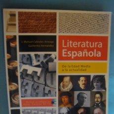 Libros de segunda mano: LIBRO DE LITERATURA ESPAÑOLA. J. MANUEL CABRALES ARTEAGA. SOCIEDAD GENERAL ESPAÑOLA. INCLUYE CD. Lote 49360638