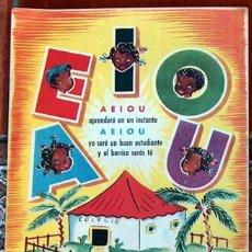 Livres d'occasion: CUENTO CARTILLA LECTURA AEIOU A-E-I-O-U EDITORIAL MATEU DIBUJOS R.MOYA ALBENIZ AÑOS 60 32 X 24 CM. Lote 55571959