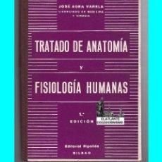 Libros de segunda mano: TRATADO DE ANATOMÍA Y FISIOLOGÍA HUMANAS - JOSÉ AGRA VARELA - EDITORIAL RIPOLLÉS - 1954 - DEDICADO. Lote 49546583