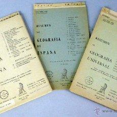 Libros de segunda mano: RESUMEN GEOGRAFÍA ESPAÑA GEOGRAFÍA UNIVERSAL HISTORIA ESPAÑA FERMINA SÁNCHEZ ARANDA DIDACTOS 1960 . Lote 49617473