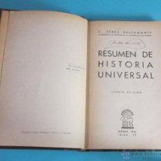 Libros de segunda mano: RESUMEN DE HISTORIA UNIVERSAL. C. PÉREZ BUSTAMANTE. Lote 49660790