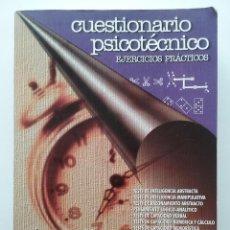 Libros de segunda mano: CUESTIONARIO PSICOTECNICO - TESTS - EJERCICIOS PRACTICOS - EDITORIAL MAD. Lote 49900892