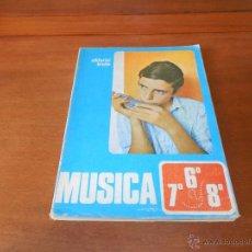 Libros de segunda mano: LIBRO DE TEXTO: MÚSICA, 6º, 7º Y 8º EGB EDITORIAL BRUÑO. Lote 49978645