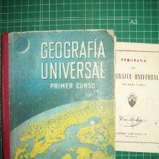 Libros de segunda mano: EDELVIVES. GEOGRAFÍA UNIVERSAL : [PRIMER CURSO]. Lote 50077156