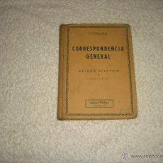 Libros de segunda mano: CORRESPONDENCIA GENERAL . SISTEMA COTS . METODO PRACTICO 1948. Lote 50078357