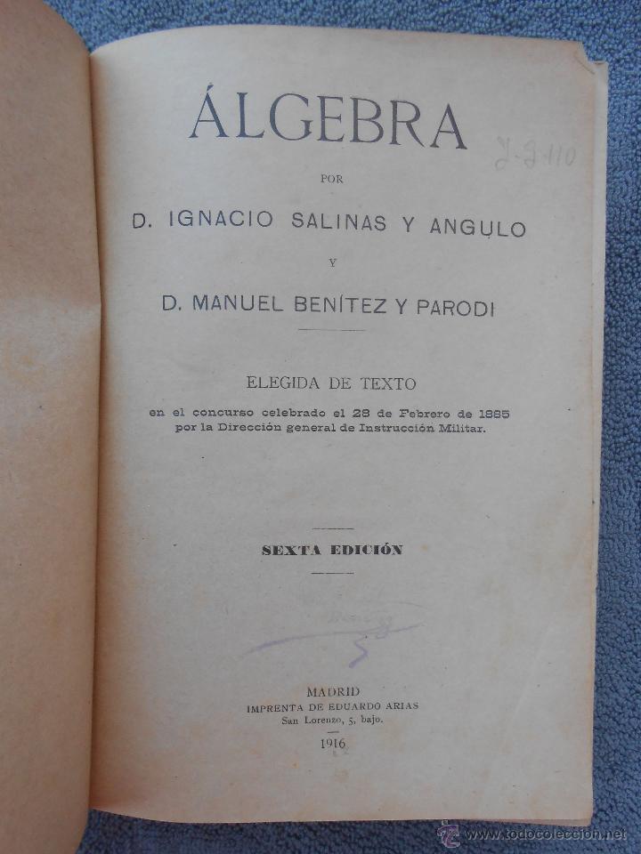 Libros de segunda mano: ARITMÉTICA. POR I. SALINAS Y ANGULO Y M. BENITEZ Y PARODI. ED. HERNANDO MADRID 1943. - Foto 3 - 50094213