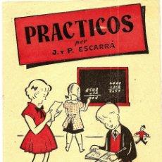 Libros de segunda mano: PRÁCTICOS POR J. Y P. ESCARRÁ - SUMAR Nº 2 - EDITORIAL STUDIUM - CUADERNILLO ESCOLAR PARA SUMAR. Lote 50364809