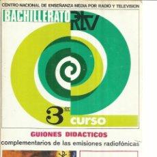 Libros de segunda mano: RELIGIÓN 3º BACHILLERATO. CENTRO NACIONAL DE ENSEÑANZA POR RADIO Y TELEVISIÓN. MADRID. 1969. Lote 50422325
