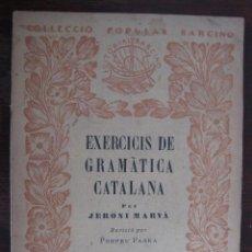Libros de segunda mano: LIBRO EXERCICIS DE GRAMATICA CATALANA. VOLUMEN VI . FORMACIO DE PARAULES. Nº 57. Lote 50919408