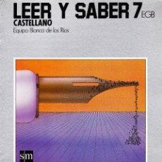 Libros de segunda mano: LEER Y SBER 7 SM. Lote 51393390