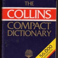 Libros de segunda mano: DICCIONARIO INGLES COLLINS COMPACT DICTIONARY 56.000 DEFINICIONES EN INGLES. Lote 71413747