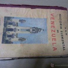 Libros de segunda mano: HISTORIA ELEMENTAL DE VENEZUELA-COLECCIÓN LA SALLE-EDITORIAL CARACAS -1959-ESCASO-2 EN UNIVERSIDAD. Lote 52445553