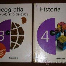 Libros de segunda mano: GEOGRAFÍA E HISTORIA 2T 3º / 4º ESO POR VARIOS AUTORES DE SANTILLANA EN MADRID 2002/2003. Lote 52602812
