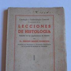 Libros de segunda mano: LIBRO LECCIONES DE HISTOLOGIA, ENRIQUE MERINO EUGERCIOS, MIÑON, VALLADOLID 1949. Lote 52657499