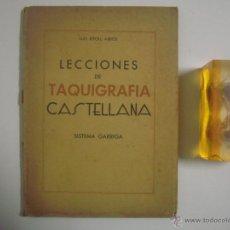 Libros de segunda mano: RIPOLL ARBÓS. LECCIONES DE TAQUIGRAFIA CASTELLANA. SISTEMA GARRIGA. FOLIO. 1939. Lote 53274948