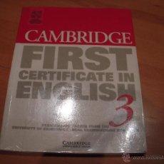 Libros de segunda mano: CAMBRIDGE FIRST CERTIFICATE ENGLISH 3 . Lote 53535601