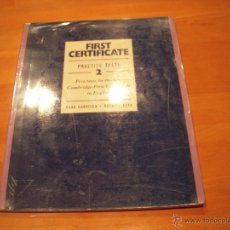 Libros de segunda mano: FIRST CERTIFICATE, PRACTICE TESTS 2. Lote 53550806