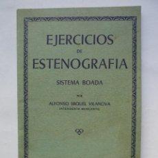 Libros de segunda mano: EJERCICIOS DE ESTENOGRAFIA - SISTEMA BOADA - 1968. Lote 53679391