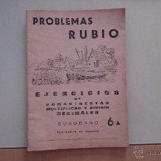 Libros de segunda mano: CUADERNO RUBIO 6A. Lote 54005675