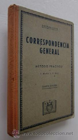CORRESPONDENCIA GENERAL - SISTEMA COTS (Libros de Segunda Mano - Libros de Texto )