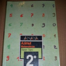 Libros de segunda mano: ANAYA AZIMUT MATEMATICAS 2 EQUIPO SIGNO LIBRO DE TEXTO. Lote 54291835