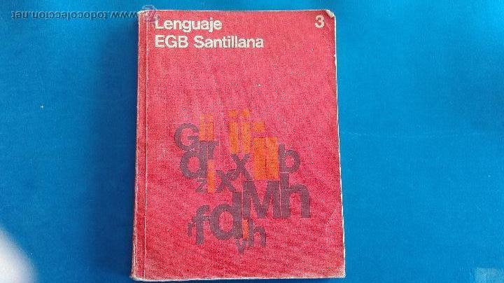 LIBRO - LENGUAJE 3º EGB - SANTILLANA (Libros de Segunda Mano - Libros de Texto )