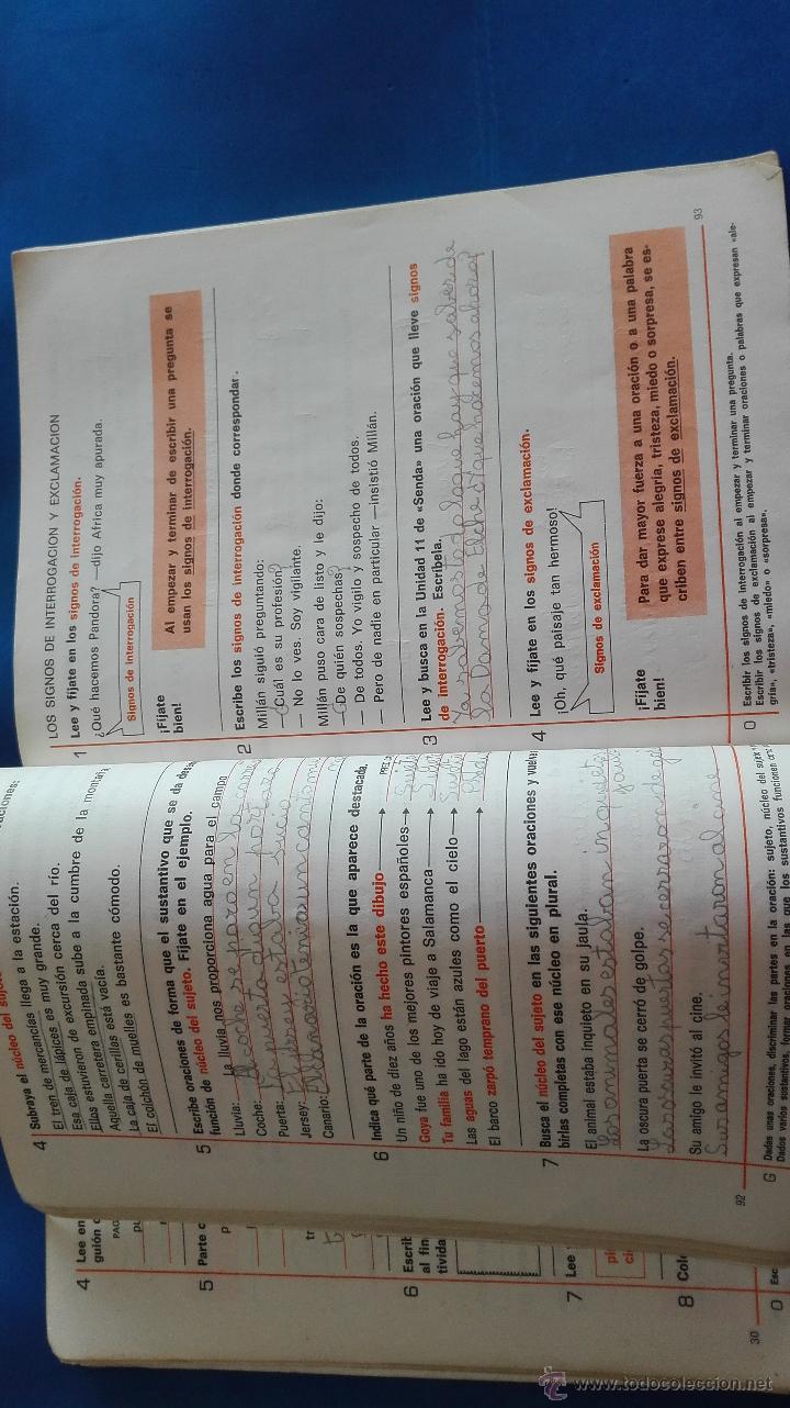 Libros de segunda mano: LIBRO - LENGUAJE 3º EGB - SANTILLANA - Foto 5 - 54392634