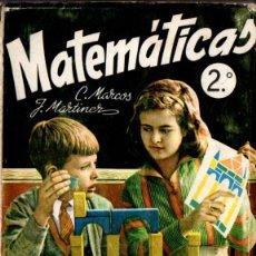 Libros de segunda mano: MATEMÁTICAS 2º CURSO (S.M., 1961) . Lote 54672053
