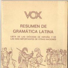 Libros de segunda mano - RESUMEN DE GRAMÁTICA LATINA - 54709045
