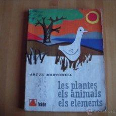 Libros de segunda mano - Les plantes, els animals, els elements, ed. teide - 54753406