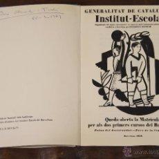 Libros de segunda mano: 6422 - GENERALITAT DE CATALUNYA INSTITUT-ESCOLA. GRAF. TORDERA. 1979.. Lote 49638363