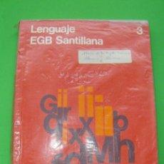Libros de segunda mano: LENGUAJE 3º 3 EGB SANTILLANA 1978. Lote 56081831