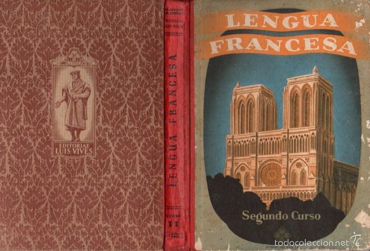 LENGUA FRANCESA EDELVIVES SEGUNDO CURSO (1955) (Libros de Segunda Mano - Libros de Texto )