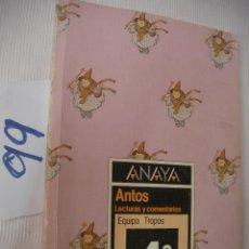 Libros de segunda mano: ANTIGUO LIBRO DE TEXTO - LECTURAS Y COMENTARIOS 4º EGB. Lote 56921062