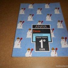 Libros de segunda mano: LIBRO DE TEXTO EQUIPO AZOR 1 E.G.B. ANAYA SEGUNDO TRIMESTRE1986 RARO PERFECTO !!! EL ULTIMO !!!!. Lote 57073919
