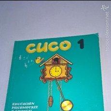 Libros de segunda mano: CUCO 1 -CICLO INICIAL-EGB-EDELVIVES-EDUCACION PSICOMOTRIZ Y MUSICAL-AÑO 1982-N. Lote 57103029