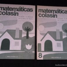 Libros de segunda mano: ANTIGUOS CUADERNILLOS DE MATEMATICAS, COLASIN. DE SALVATELLA. NUMEROS 8 Y 9. Lote 245108630