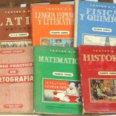 Libros de segunda mano: 7652 - LOTE DE 6 LIBROS DE TEXTO. (VER DESCRIP). VV. AA. VARIAS EDITORIALES. 1956/1963.. Lote 57508850