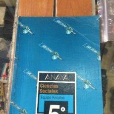 Libros de segunda mano: LIBRO DE TEXTO ANAYA 5 EGB CIENCIAS NATURALES -. Lote 57511512