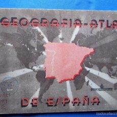 Libros de segunda mano: GEOGRAFÍA ATLAS DE ESPAÑA. EDITORIAL MIGUEL SALVATELLA, 1ª EDICIÓN, 1943... Lote 57849495