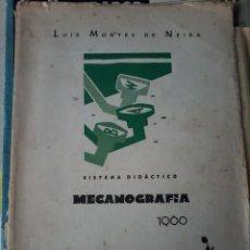Libros de segunda mano: SISTEMA DIDACTICO MECANOGRAFIA 1960. Lote 57864438