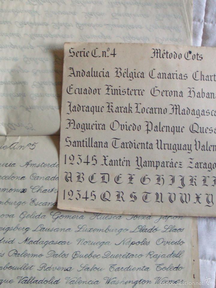 Libros de segunda mano: Cuaderno reforma de letra 2 láminas método Cots Gótico serie C nº 4-5 comercal serie A nº5 en hoja - Foto 2 - 57993372